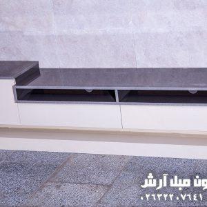 میز تلویزیون سفید مدل کنسولی