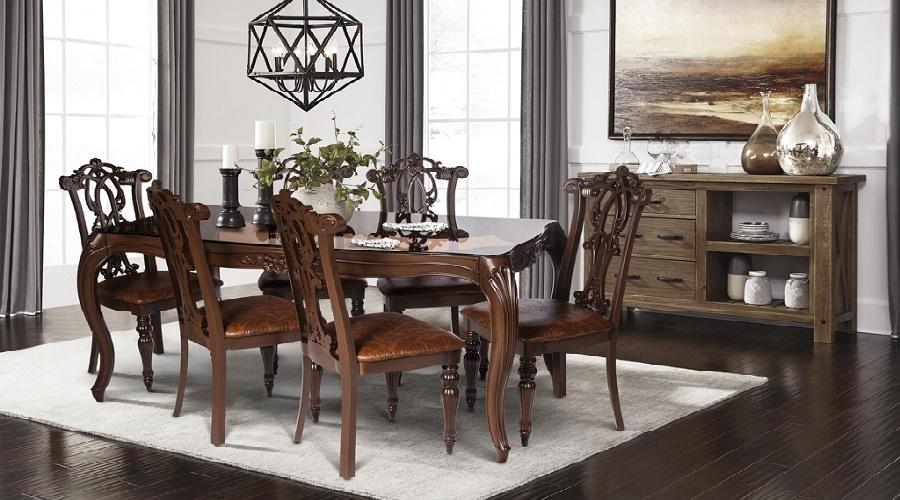 ابعاد مناسب و استاندارد میز ناهار خوری