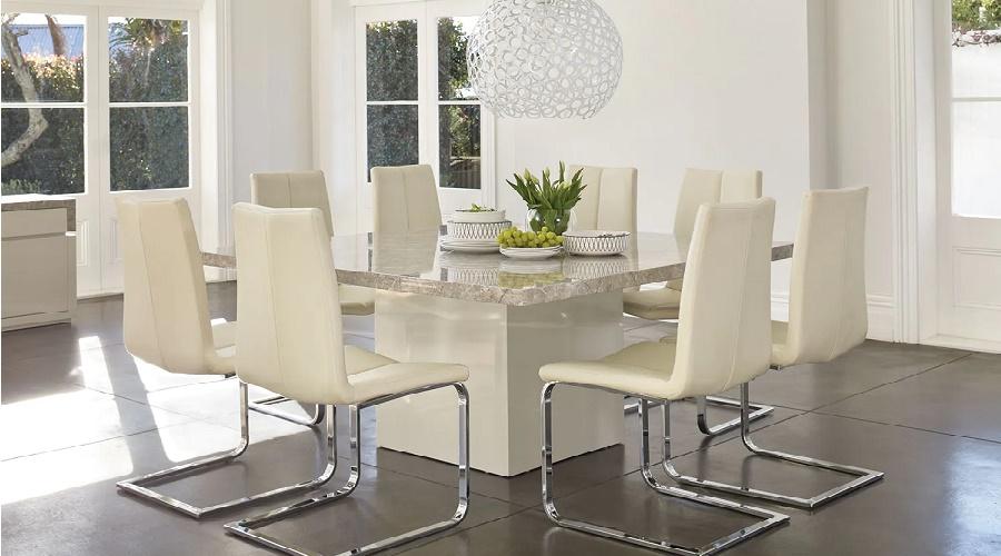 ابعاد مناسب برای میز ناهار خوری مربع